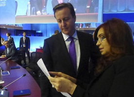 'Falklands face-off' between Cameron and Fernandez