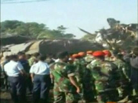 Military plane crashes in Jakarta killing at least 6