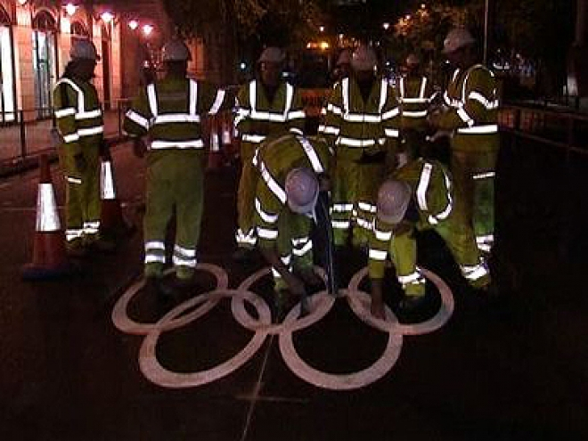London's Olympic lanes unveiled today