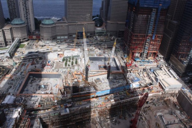 The World Trade Center construction zone is seen on September 10, 2010.