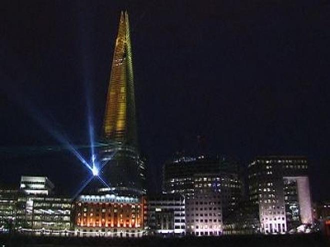 The Shard light show marks inauguration