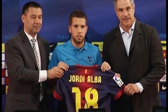 Football Roundup: Barcelona sign Jordi Alba, Brazil Olympics squad named, goal-line technology given go ahead