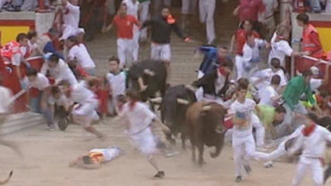 Three People Gored in Annual Pamplona Bull Run