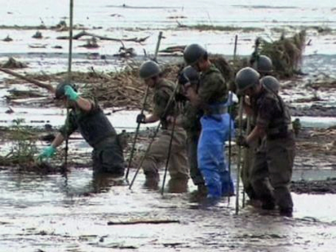 Aftermath of Flooding in Japan that left 24 people dead