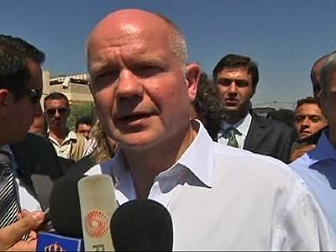 William Hague visits Syrian refugee camp in Jordan