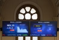 European shares, currency tumble