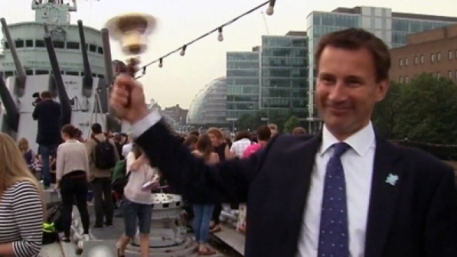 Minister Jeremy Hunt left holding the Bell End