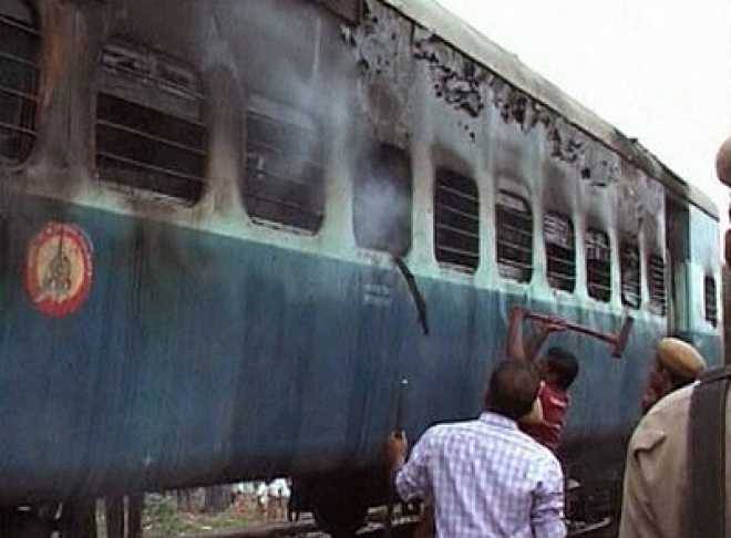 At least 47 dead as fire engulfs train in southern India