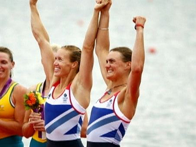1st Olympics rowing Gold Medal for Team GB