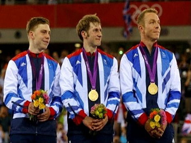Gold Medal for Men's Team Sprint Cycling