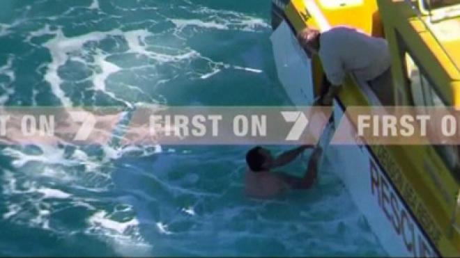 Fisherman Saved from Shark attack in Australia