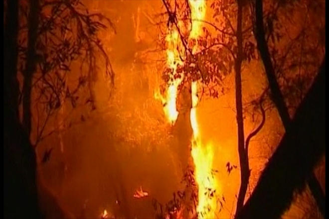 Fires out of control on the Canary Islands