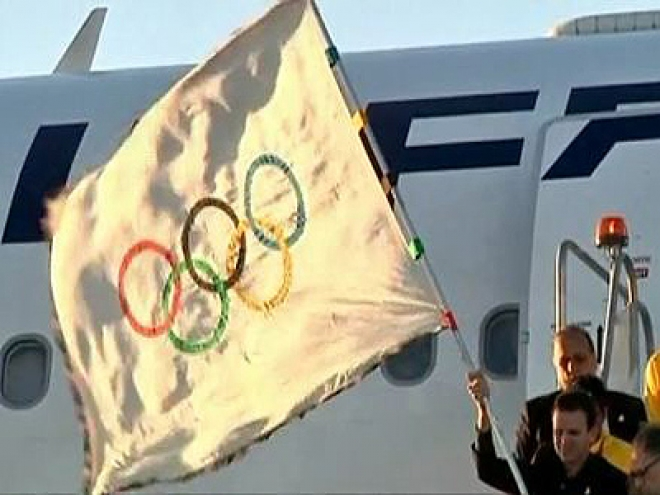 Olympic flag Arrives in Rio