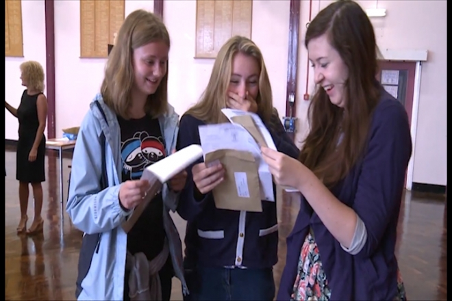 A-level results show fall in top grades