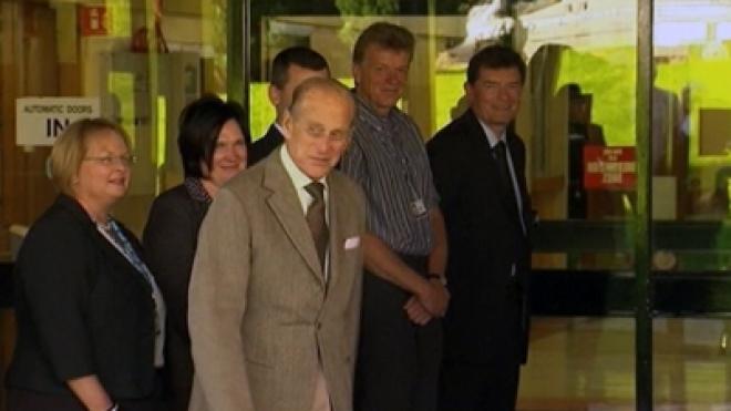 Duke of Edinburgh Leaves Hospital after Treatment