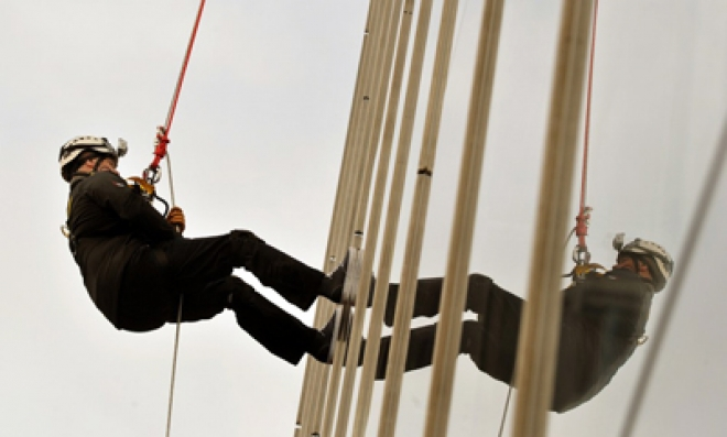 Prince Andrew abseils down The Shard for charity