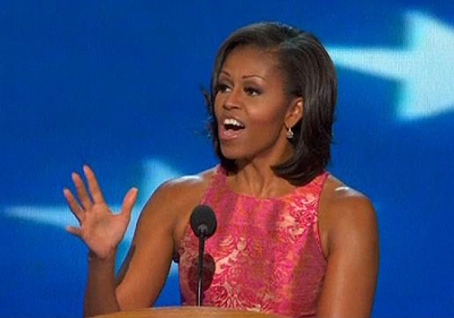 Michelle Obama Bats for her Husband at Democratic Convention