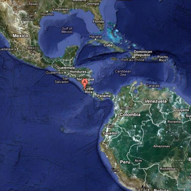 Earthquake strikes off Costa Rica coast