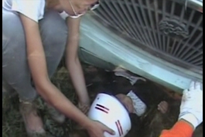 Chinese girl pulled from underneath bus