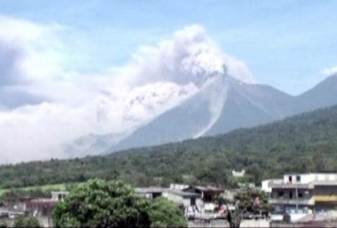 Fuego volcano erupts