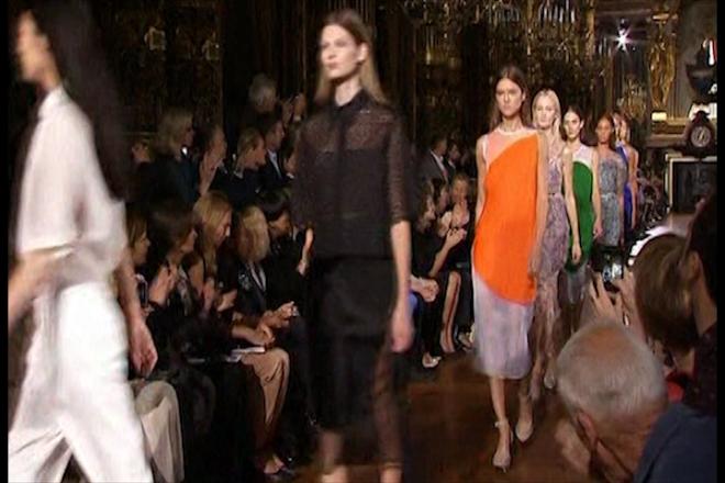 Stars flock to Stella McCartney's new fashion show