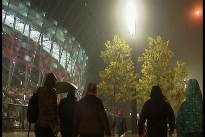 Rain stops play for England v Poland match