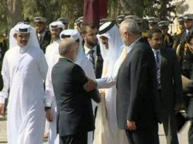 Historic Visit to Gaza by Emir of Qatar