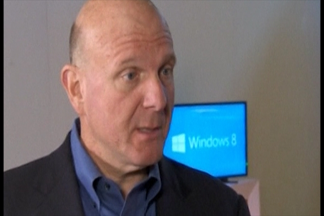 Microsoft CEO Steve Ballmer excited by Windows 8