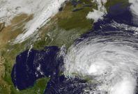 Hurricane Sandy due to hit US East coast