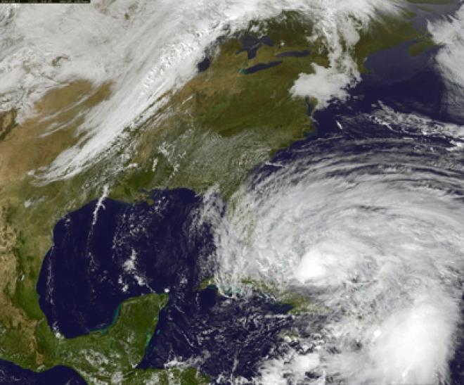 Hurricane Sandy due to hit US East coast