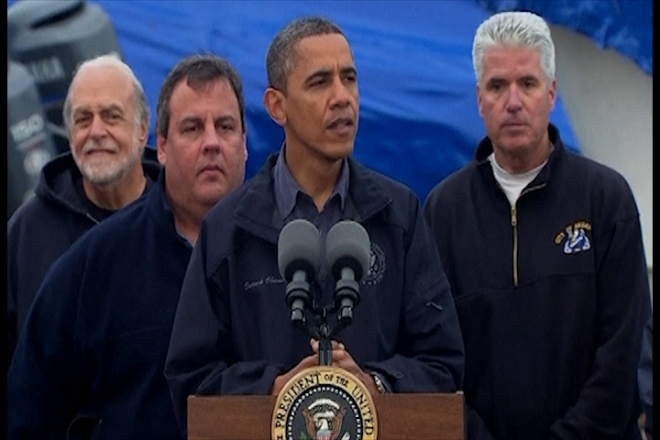 President Obama visits storm-hit areas of New Jersey