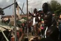 Dozens trapped in Ghana shopping mall collapse