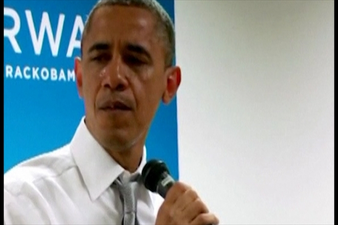 Obama cries while thanking campaign workers