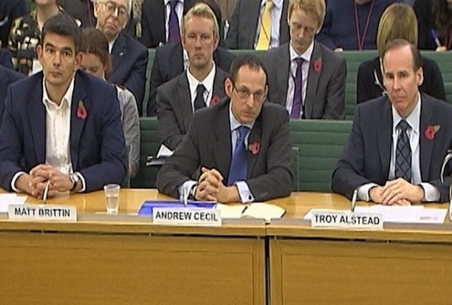 Amazon, Starbucks and Google grilled by MP's over tax