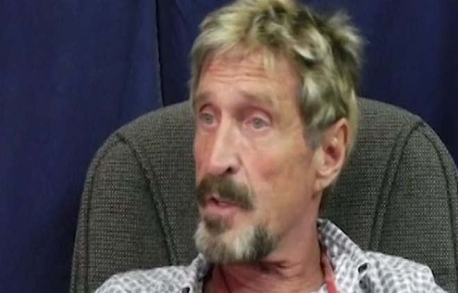 Belize Prime Minister calls McAfee 'bonkers'