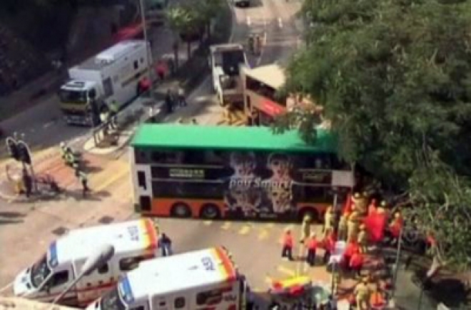 Two UK chefs killed in Hong Kong bus crash