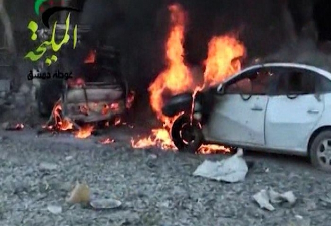Damascus air raid on petrol station leaves 30 dead