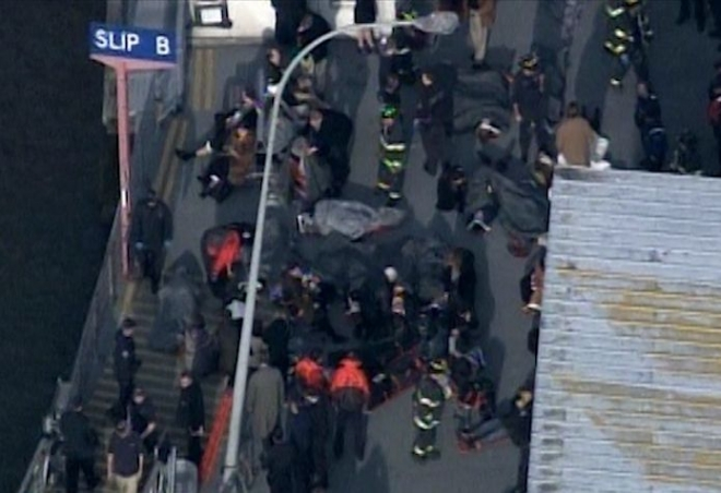 NYC ferry crash leaves up to 50 injured