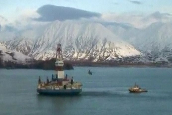 Shell accused of moving Alaska oil rig to avoid taxes