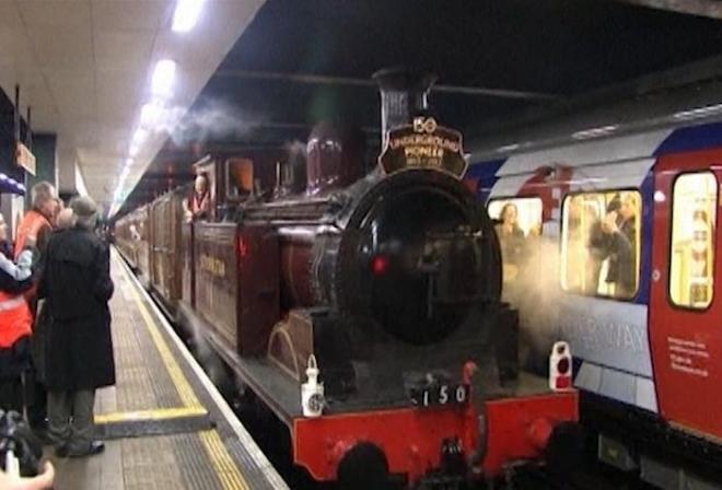 Steam train marks 150 years of London Underground