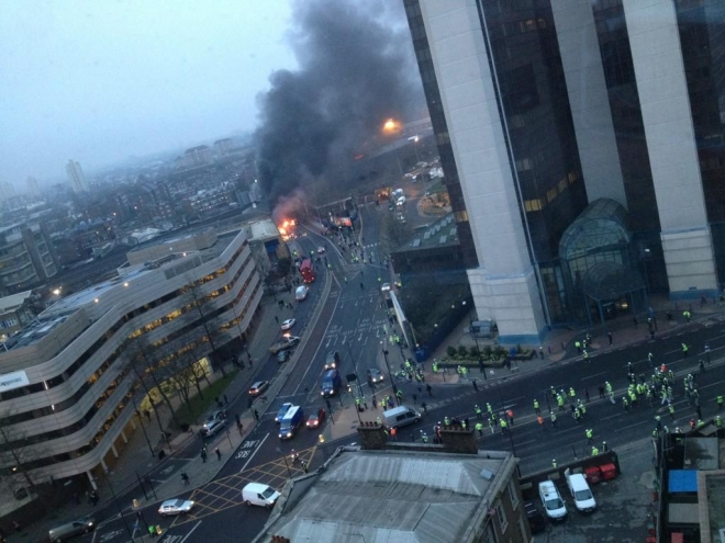 Two dead in London helicopter crash