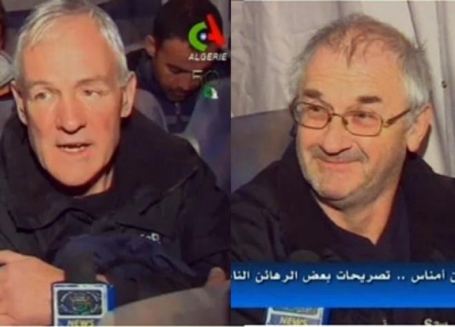 Released British hostages speak to Algeria TV