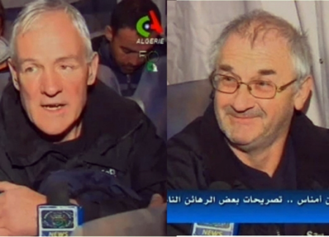 Released British hostages speak to Algeria TV
