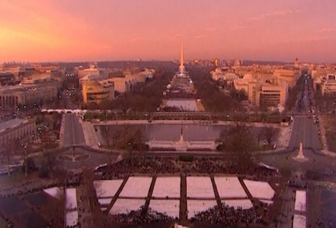 Thousands flock to Obama presidential inauguration