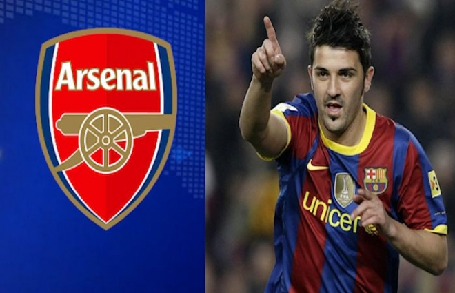 Arsenal after David Villa to add extra firepower