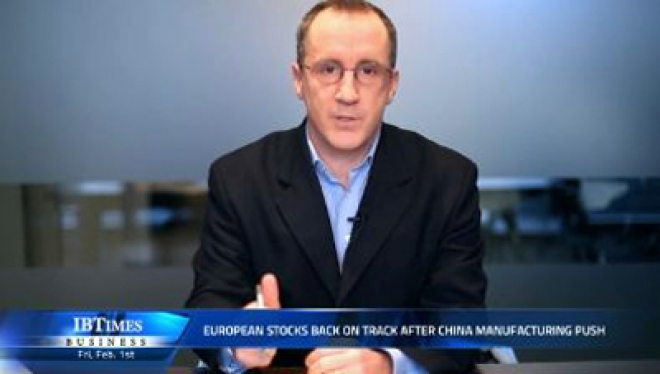 European stocks back on track after China manufacturing push