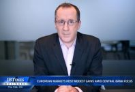 European markets post modest gains amid central bank focus