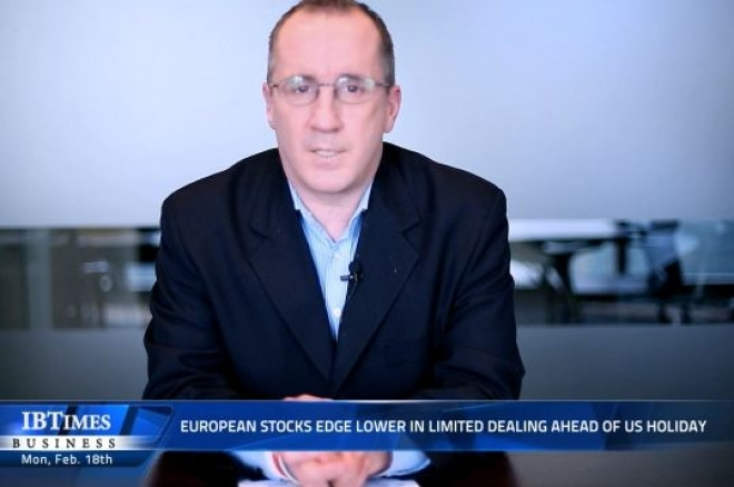 European stocks edge lower in limited dealing ahead of us holiday