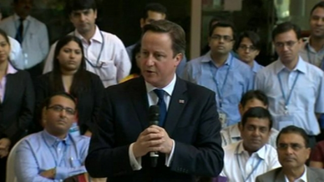 Cameron Says India Should Open Up Economy
