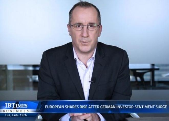 European shares rise after German investor sentiment surge